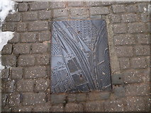 SJ0566 : Decorative manhole cover, Broomhill Lane by Eirian Evans