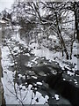 SD9097 : Straw Beck, partially frozen in Muker by Christine Johnstone