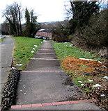 ST3096 : Steps down from Edlogan Way, Croesyceiliog, Cwmbran by Jaggery
