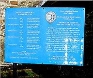 SN4201 : St Illtyd's Church information board, Pembrey by Jaggery
