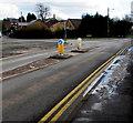 ST3096 : Woodland Road pedestrian refuge, Croesyceiliog, Cwmbran by Jaggery