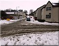 NT3799 : Snowy road in Methil by Bill Kasman