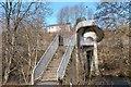 NT5035 : Unusual footbridge to Langlee by Jim Barton