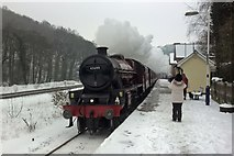 SK3281 : Former LMS Jubilee Class 6P 4-6-0 Galatea at Dore & Totley Station by Chris Morgan