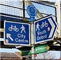 SP5105 : Signpost by Grandpont Bridge by Steve Daniels