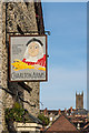 SO5174 : Pub sign, Charlton Arms by Ian Capper