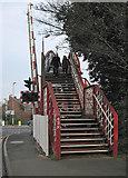SK8508 : Oakham: over the footbridge by John Sutton