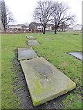 SE2932 : Grave slabs in St Matthew's churchyard by Stephen Craven