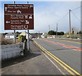 SN4201 : Brown directions sign, Dan Lan Road, Pembrey by Jaggery