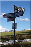 TL1421 : Roadsign on Lye Hill by Adrian Cable