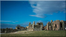 NU1241 : Lindisfarne Priory by Peter Moore