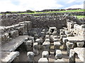 NY7868 : Housesteads Fort, Commanding Officer's House, Dining Room by Duncan Graham