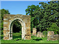 SK2504 : Alvecote Priory ruins in Staffordshire by Roger  Kidd