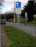 ST3096 : Traffic calming sign, Edlogan Way, Croesyceiliog, Cwmbran by Jaggery