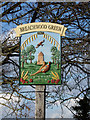 TL1422 : Breachwood Green Village sign by Geographer
