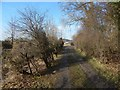 NS7793 : View to footpath junction by Lairich Rig