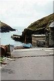 SW9339 : The Slipway. Portloe by Peter Jeffery