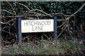 TL1824 : Hitchwood Lane sign by Adrian Cable