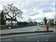 SJ7744 : Junction of Newcastle Road and New Road, Madeley by Jonathan Hutchins