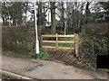 SJ7745 : Entrance to footpath through copse by Jonathan Hutchins