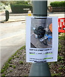 SX9065 : Notice on Cricketfield Road, Torquay by Derek Harper