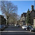 TL4557 : Harvey Road: spring sunlight by John Sutton