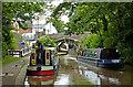 SP3098 : Narrowboats at Atherstone Lock No 5, Warwickshire by Roger  Kidd