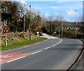 SN4301 : Warning sign - staggered crossroads, Gwscwm Road, Pembrey by Jaggery