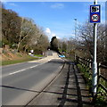SN4301 : Combined speed limit and speed camera sign, Gwscwm Road, Pembrey by Jaggery
