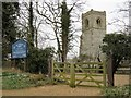 TF7334 : The tower of All Saints' Church in Fring, Norfolk by Richard Humphrey