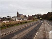 J4844 : View Northwest along Killough Road, Downpatrick by Eric Jones