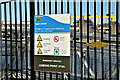J3474 : Water safety sign, Lagan Lookout, Belfast (March 2018) by Albert Bridge