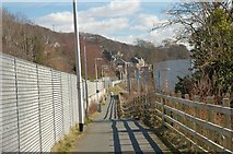 NT4836 : Cyclepath approaching Galashiels by Jim Barton