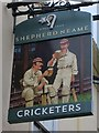 TR1457 : Cricketers sign by Oast House Archive