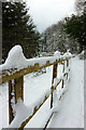 SX9065 : Snowy fence, Torre : Week 12