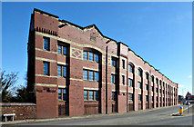 NS4865 : Former carpet factory on Inchinnan Road by Thomas Nugent