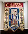 SJ9497 : Old Chapel Sunday School banner by Gerald England