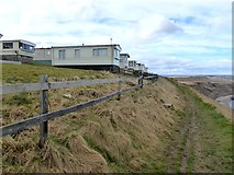 TA0983 : Blue Dolphin Holiday Park above Gristhorpe Cliff by Oliver Dixon
