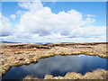 NY7039 : Peat banks beyond small moorland tarn by Trevor Littlewood