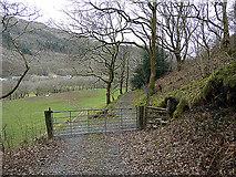 SN7079 : Gate and stile in Cwm Rheidol by John Lucas
