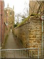 SK7730 : Footpath to the church by Alan Murray-Rust