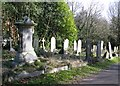TG2108 : Graves behind the Crematorium office by Evelyn Simak