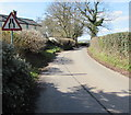 ST4496 : West along the minor road from Gaerllwyd to Earlswood, Monmouthshire by Jaggery