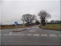 TL9398 : Thompson Road at the Griston Crossroads by David Howard