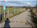 SE2824 : Ardsley Reservoir: access road by Stephen Craven