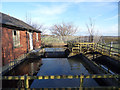 SE2824 : Ardsley Reservoir: inlet weir by Stephen Craven