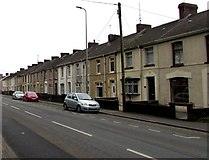 SN4900 : Long row of houses, Sandy Road, Llanelli by Jaggery