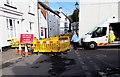 SO3700 : Ffordd Ar Gau/Road Closed, Maryport Street, Usk by Jaggery