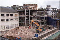 NY4055 : Demolition of Council Offices, site of County Gaol - March 2018 by The Carlisle Kid