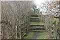 ST1295 : Rhymney Valley Ridgeway Walk steps by M J Roscoe